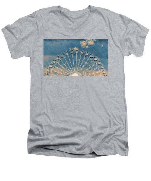 Rise Up Ferris Wheel In The Clouds Men's V-Neck T-Shirt by Terry DeLuco