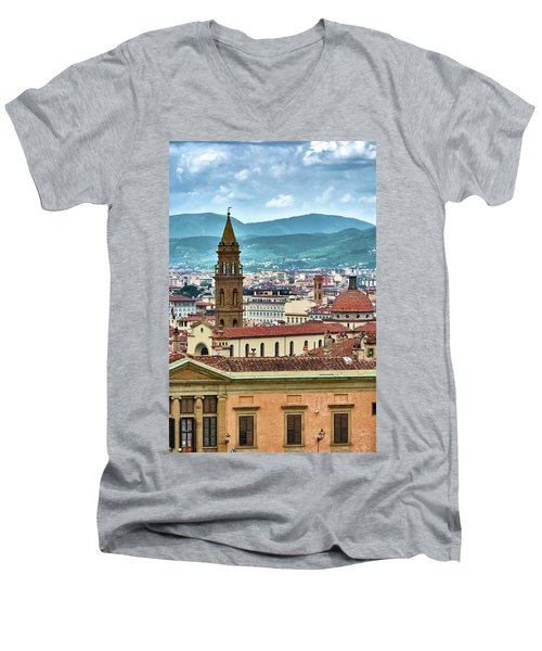 Rising Above The City Men's V-Neck T-Shirt