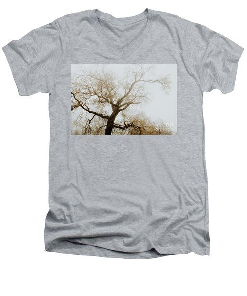 Men's V-Neck T-Shirt featuring the photograph Rising by Iris Greenwell