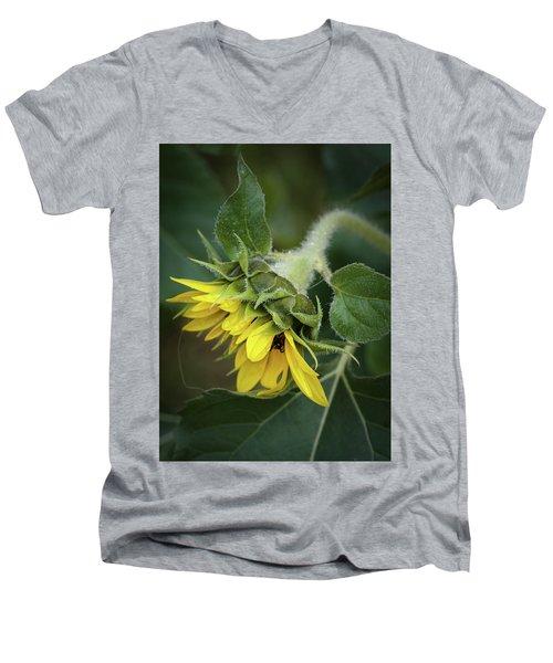 Rising Men's V-Neck T-Shirt by Nikki McInnes