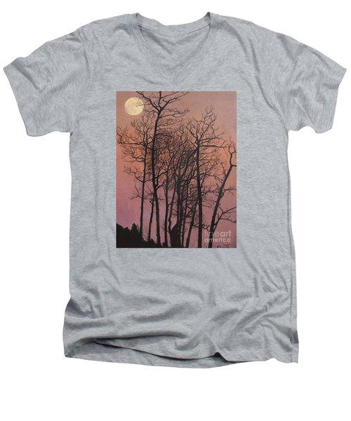 Rising Of The Moon  Men's V-Neck T-Shirt by Barbara Barber