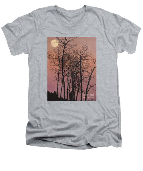 Rising Of The Moon  Men's V-Neck T-Shirt