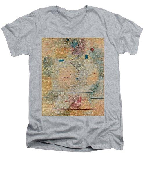 Rising Star  Men's V-Neck T-Shirt by Paul Klee