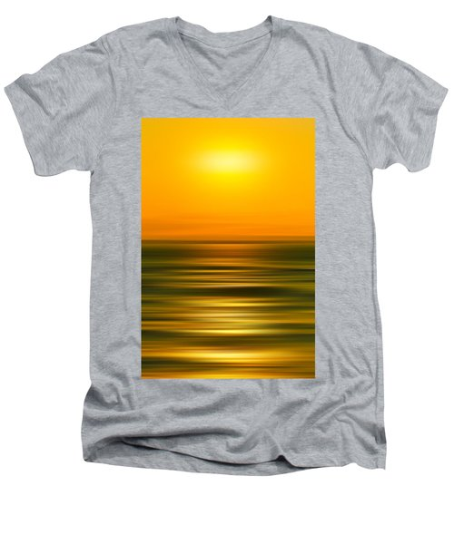 Rising Sun Men's V-Neck T-Shirt by Az Jackson