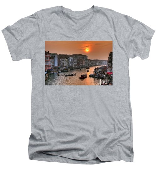 Riva Del Ferro. Venezia Men's V-Neck T-Shirt