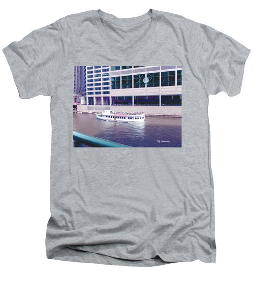 River Boat Tour Men's V-Neck T-Shirt