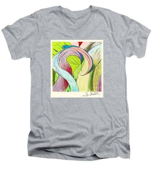 River Grass Up Close Men's V-Neck T-Shirt