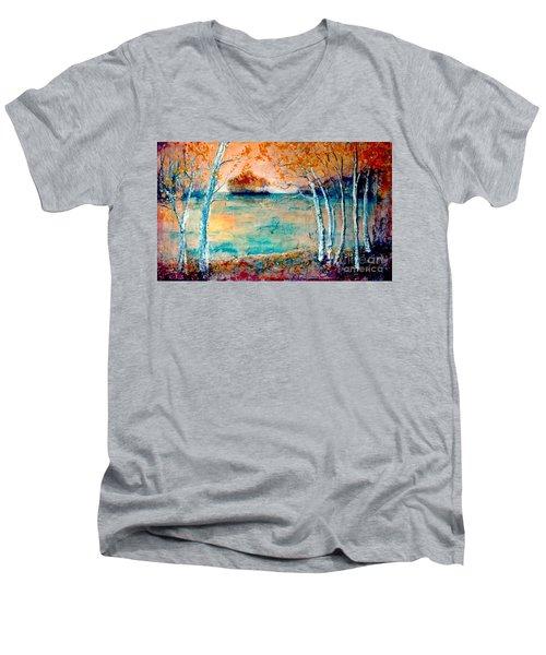 River Island Men's V-Neck T-Shirt