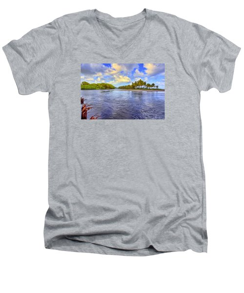 River Island Men's V-Neck T-Shirt by Nadia Sanowar