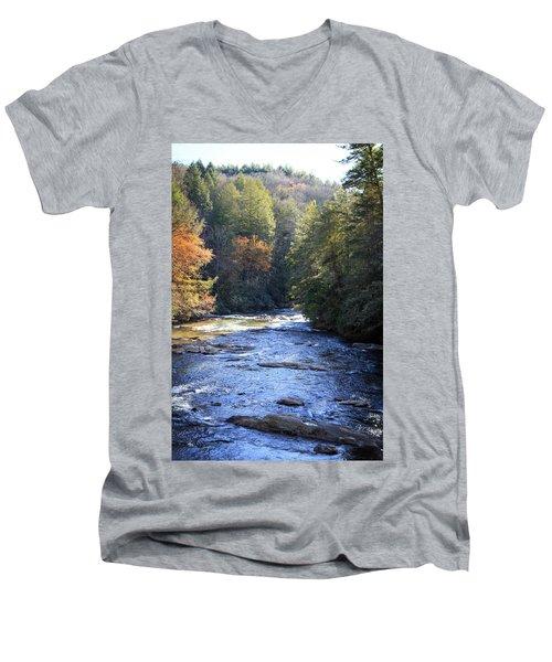 River Men's V-Neck T-Shirt