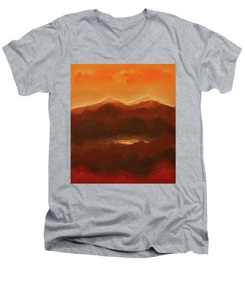 River Mountain View Men's V-Neck T-Shirt