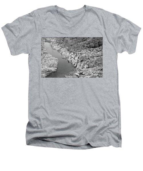 River On The Rocks. Bw Version Men's V-Neck T-Shirt