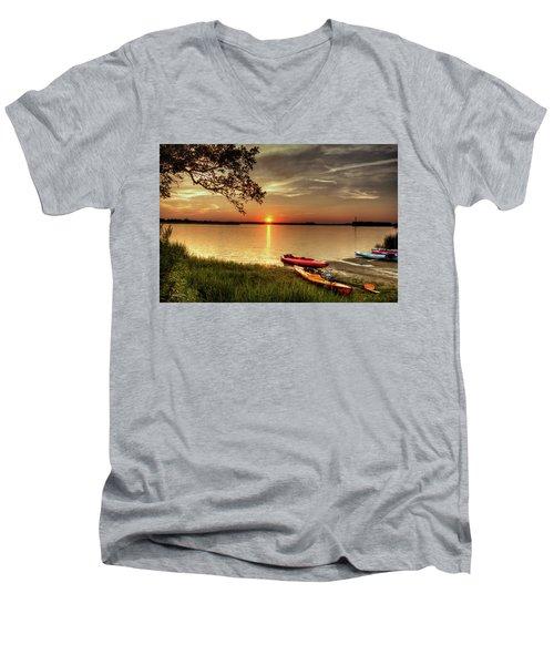 River Road Park Never Disappoints Men's V-Neck T-Shirt
