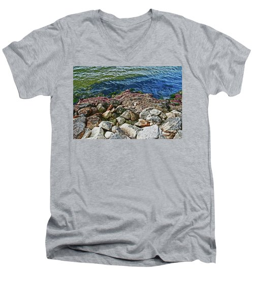 River Rocks Men's V-Neck T-Shirt