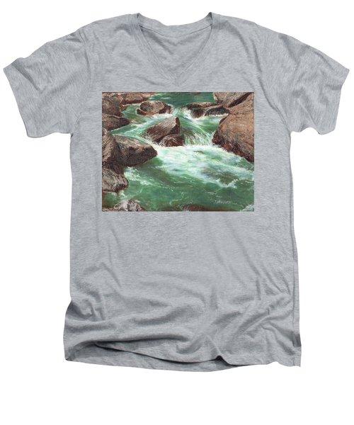 River Rocks Men's V-Neck T-Shirt