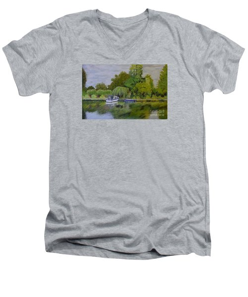 River Thames Hampton Men's V-Neck T-Shirt