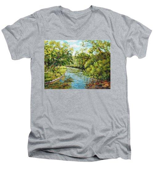 River Through The Forest Men's V-Neck T-Shirt