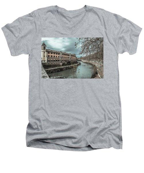River Tiber Men's V-Neck T-Shirt