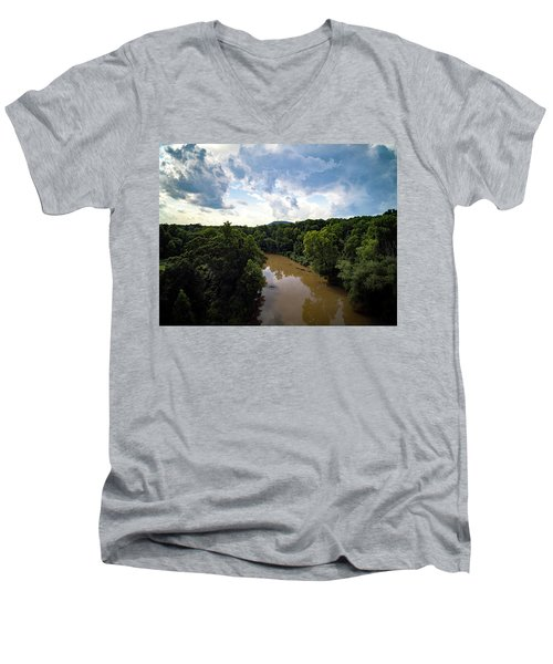 River View From Above Men's V-Neck T-Shirt