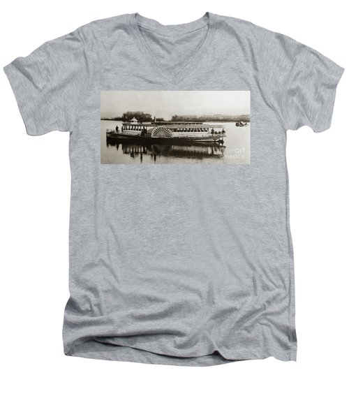 Riverboat  Mayflower Of Plymouth   Susquehanna River Near Wilkes Barre Pennsylvania Late 1800s Men's V-Neck T-Shirt