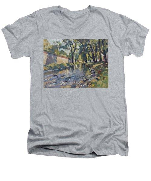 Riverjeker In The Maastricht City Park Men's V-Neck T-Shirt