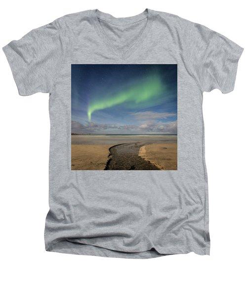 Rivers Men's V-Neck T-Shirt by Alex Conu