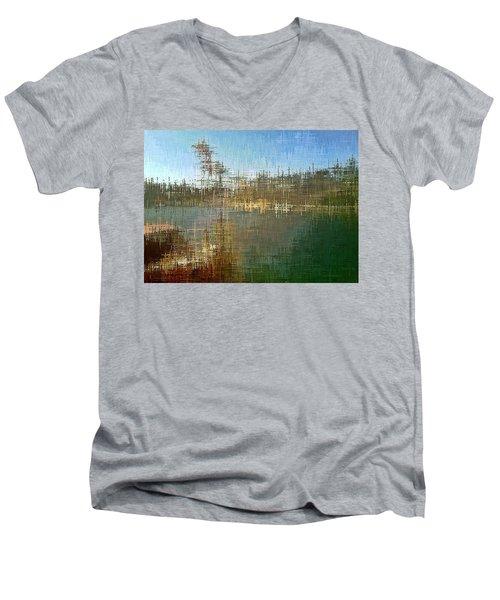 River's Edge Men's V-Neck T-Shirt