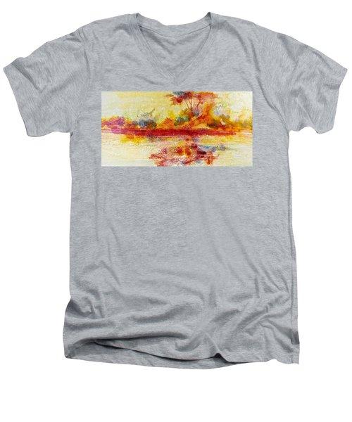 Riverscape In Red....part 2 Men's V-Neck T-Shirt