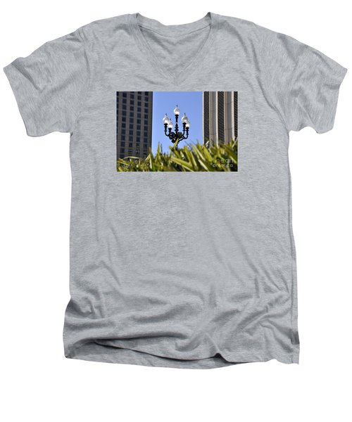 Riverwalk Lamp Men's V-Neck T-Shirt