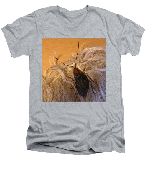 Roach Hair Clip Men's V-Neck T-Shirt by Roger Swezey