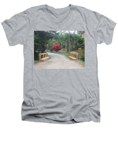 Road 1 Men's V-Neck T-Shirt