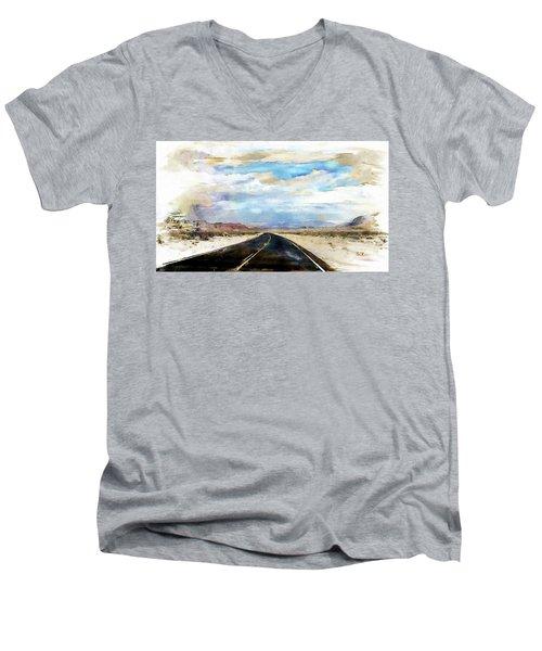 Road In The Desert Men's V-Neck T-Shirt