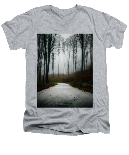 Road In The Fog 07/11/17 Men's V-Neck T-Shirt