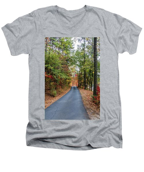 Road In The Woods Men's V-Neck T-Shirt