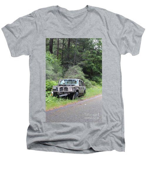 Men's V-Neck T-Shirt featuring the photograph Road Kill by Marie Neder