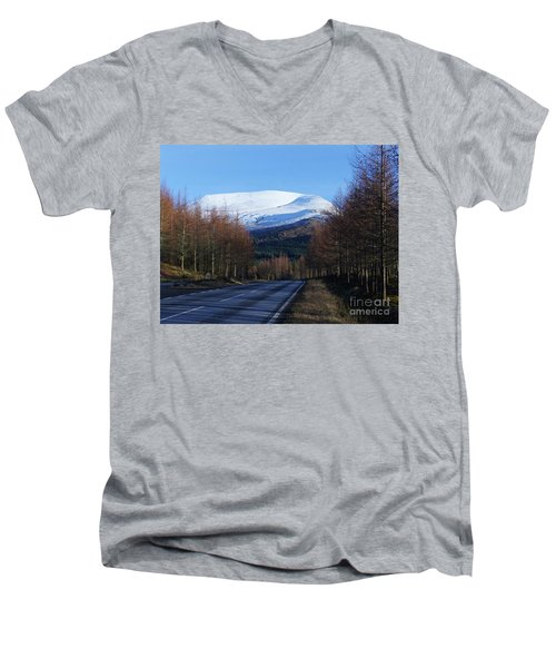 Road To Aonach Mor  Men's V-Neck T-Shirt by Phil Banks