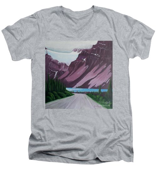 Road To Banff Men's V-Neck T-Shirt