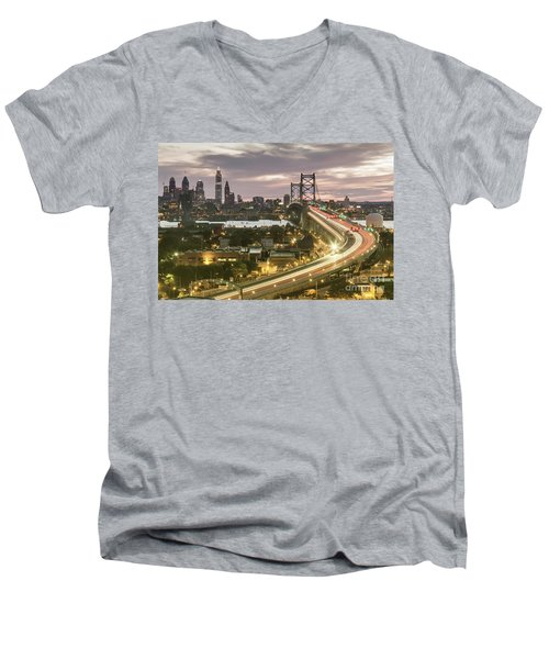 Road To Brotherly Love Men's V-Neck T-Shirt