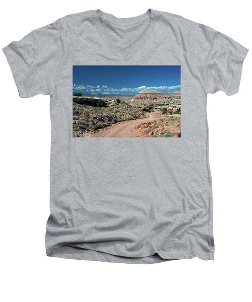 Road To Cathedral Valley Men's V-Neck T-Shirt