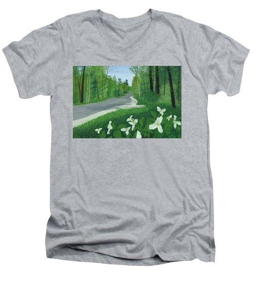 Road To Northport - Spring Men's V-Neck T-Shirt
