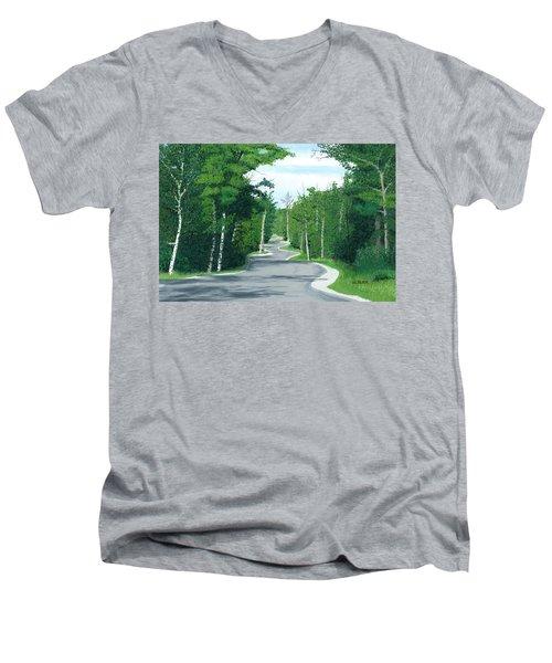 Road To Northport - Summer Men's V-Neck T-Shirt