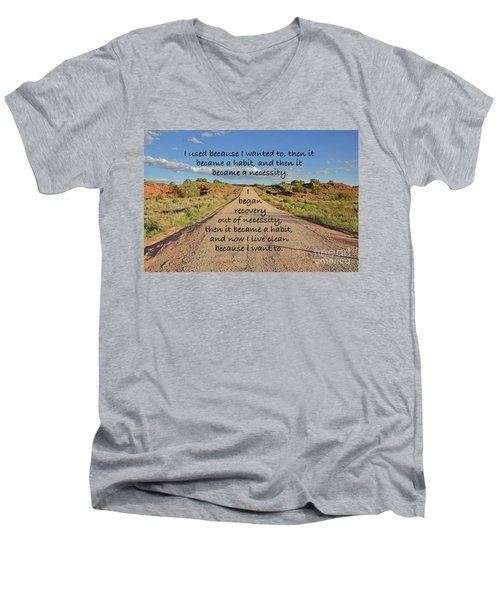 Road To Recovery Men's V-Neck T-Shirt