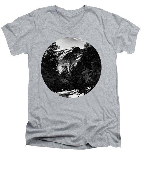 Road To Wonder, Black And White Men's V-Neck T-Shirt