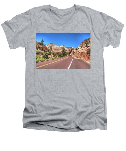 Road To Zion Men's V-Neck T-Shirt by Brent Durken