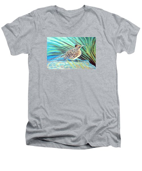 Roadrunner Fluffing Sold   Pastel Men's V-Neck T-Shirt by Antonia Citrino