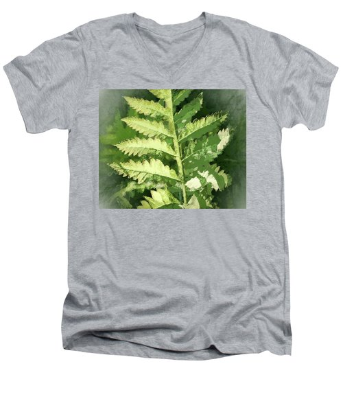 Roadside Fern, Abstract 2 - Men's V-Neck T-Shirt