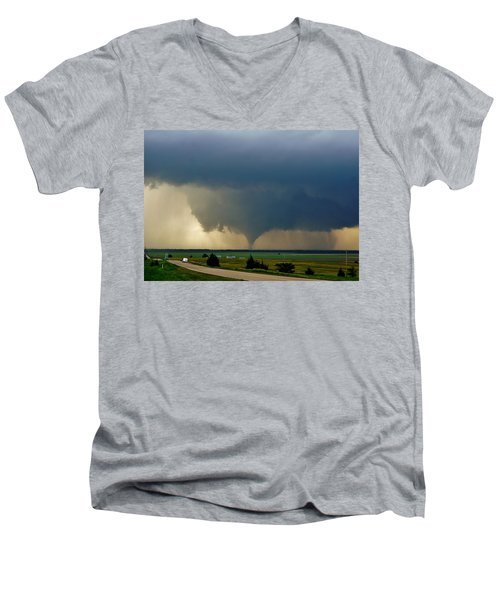 Roadside Twister Men's V-Neck T-Shirt