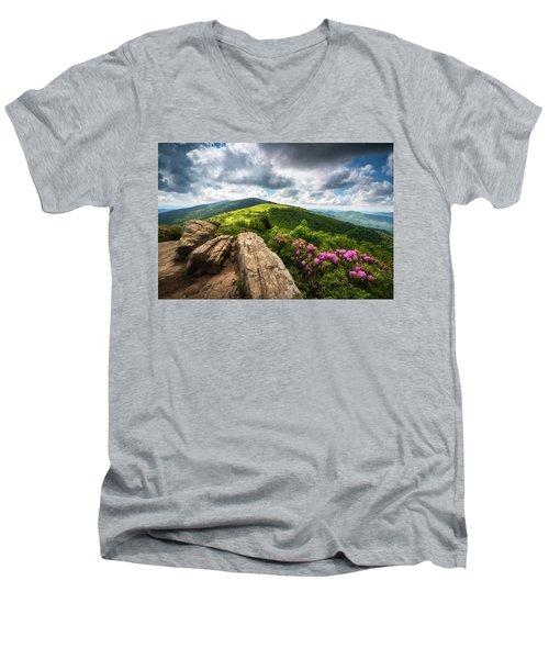 Roan Mountain Radiance Appalachian Trail Nc Tn Mountains Men's V-Neck T-Shirt