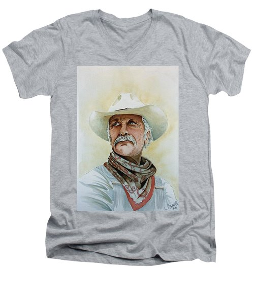 Robert Duvall As Augustus Mccrae In Lonesome Dove Men's V-Neck T-Shirt