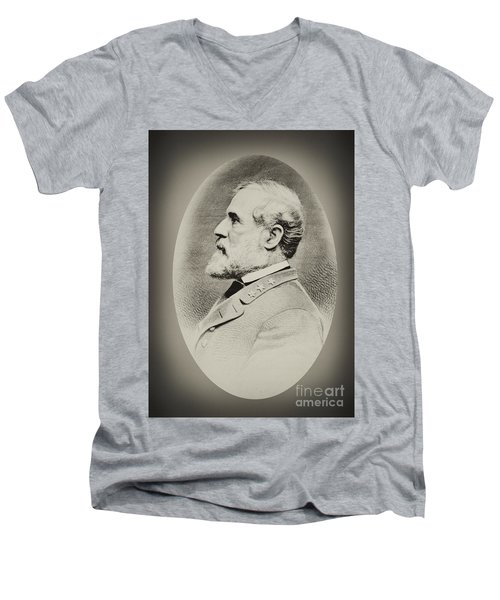 Robert E Lee - Csa Men's V-Neck T-Shirt